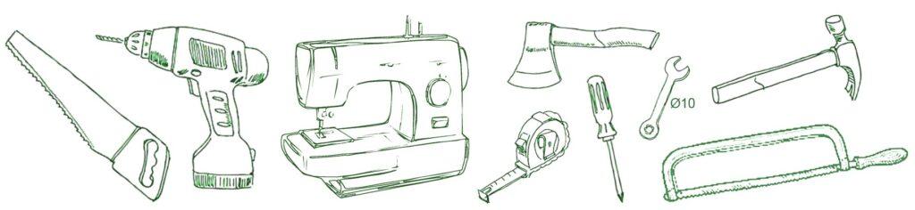 outils nécessaires pour construire une yourte